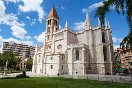 VALLADOLID, SPAIN - MAY 30, 2014: Church Santa Maria La Antigua (12th-century) in Valladolid, Castile and Leon, Spain.