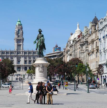 central government: PORTO, PORTUGAL - JUNE 4, 2014: Porto City Hall at the Avenida dos Aliados in the center of Porto, Portugal.