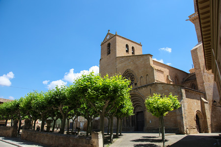 northern spain: 12th Century church of Ujue, (Uxue in Basque), a town in Navarre, Northern Spain. Editorial
