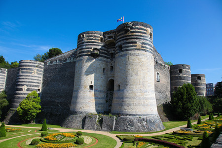 donjon: Keep at the Chateau of Angers in Loire valley, France Editorial