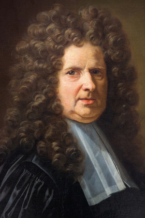 magistrate: ROUEN, FRANCE - FEBRUARY 10, 2013: Painting of a magistrate, in the Museum of Rouen, France. This painting was created by Jean Jouvenet and finished in 1717. No property release is required.