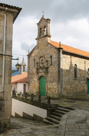 patrimony: Church in the historical quarter of Tui, a border town with Portugal in the region of Galicia, Spain.