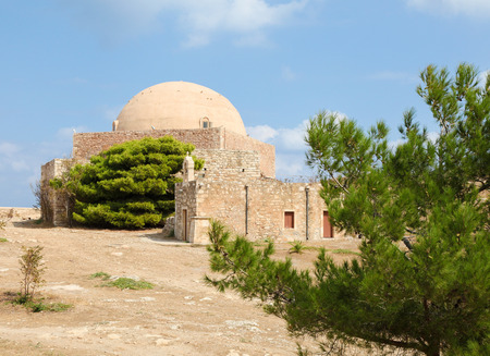 kreta: Venetian Fortezza or Citadel in the city of Rethymno on the island of Crete, Greece, created in 1573.