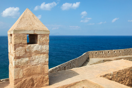 fortezza: Venetian Fortezza or Citadel in the city of Rethymno on the island of Crete, Greece, created in 1573.