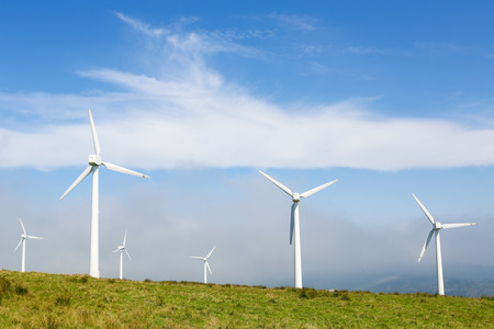 Onshore wind turbine farm in the Northern part of Galicia, Spain. photo