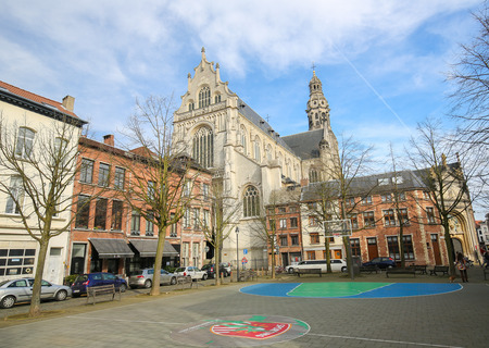 paulus: ANTWERP, BELGIUM - MARCH 7, 2015: Church of Saint Paul or Sint-Pauluskerk, located at the Veemarktkade in the center of Antwerp, Belgium.