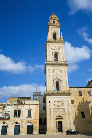 assumption: Cathedral of the Assumption of the Virgin Mary in Lecce, a historic city in Apulia, Southern Italy Stock Photo