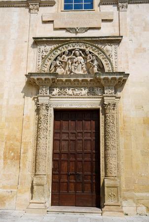 Angeli: Main door of the church of Santa Maria degli Angeli, created in 1524, in the historic city of Lecce, Puglia, Italy