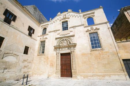 Angeli: Church of Santa Maria degli Angeli, created in 1524, in the historic city of Lecce, Puglia, Italy Stock Photo