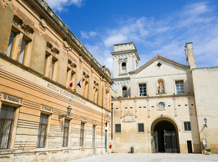 evangelist: LECCE, ITALY - MARCH 13, 2015: Church of Saint John the Evangelist or San Giovanni Evangelista in the center of Lecce, Puglia, Italy, constructed between 133 and 1761