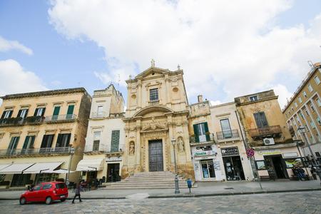 old center: LECCE, ITALY - MARCH 13, 2015: Church of Santa Maria della Grazia (16th Century) in the old center of Lecce, a historic city in Apulia, Southern Italy Editorial