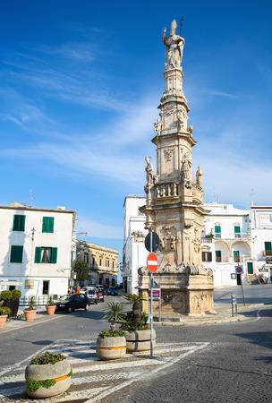 patron of europe: OSTUNI, ITALY - MARCH 14, 2015: Statue of San Oronzo in Ostuni, Puglia, Italy.