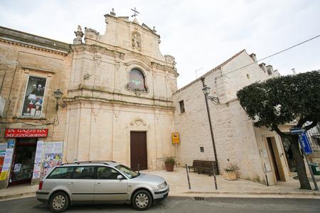 sante: CISTERNINO, ITALY - MARCH 15, 2015: St. Cataldo church in Cisternino, Puglia, South Italy (18th Century) Editorial