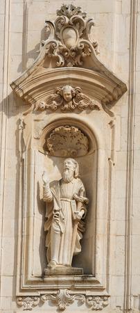 south italy: Statue of Saint Paul at the Basilica of Martina Franca, Taranto province, South Italy.
