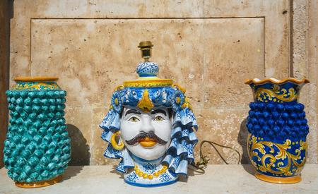 south italy: Typical handmade ceramic in Martina Franca, Taranto province, South Italy.