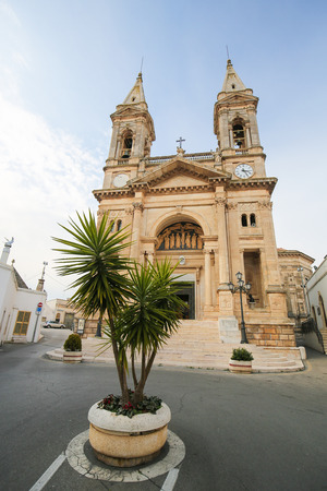 medici: Santi Medici church in Alberobello, small town of the Metropolitan City of Bari, Puglia, Southern Italy.