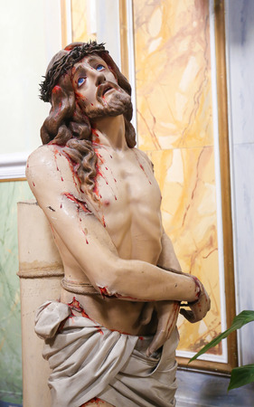 messiah: Statue of Jesus on Good Friday in Martina Franca, Taranto province, South Italy.