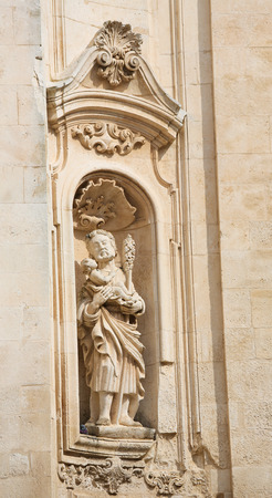 christopher: Statue of Saint Christopher at the Basilica of Martina Franca, Taranto province, South Italy.