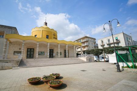 south italy: MARTINA FRANCA, ITALY - MARCH 15, 2015: Modern church in Martina Franca, Taranto province, South Italy.
