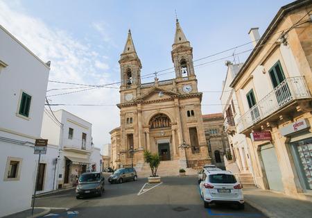 medici: ALBEROBELLO, ITALY - MARCH 15, 2015: Santi Medici church in Alberobello, small town of the Metropolitan City of Bari, Puglia, Southern Italy.