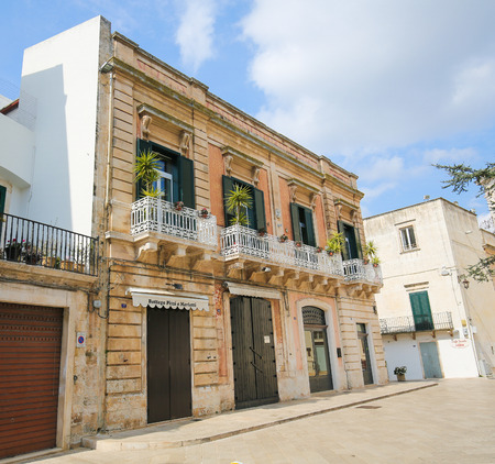 south italy: MARTINA FRANCA, ITALY - MARCH 15, 2015: Typical architecture in the center of Martina Franca, Taranto province, South Italy.