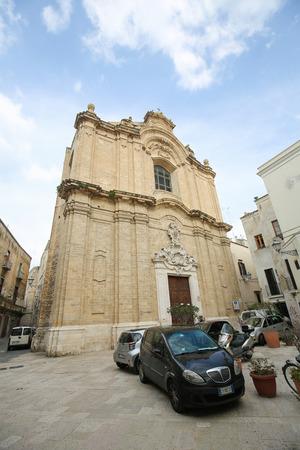 bari: BARI, ITALY - MARCH 16, 2015: Baroque Church in the center of Bari, Italy