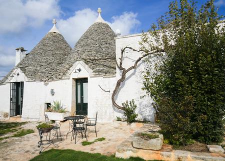 bari: Typical Trulli in Alberobello, a small town of the Metropolitan City of Bari, Puglia, Southern Italy. Editorial