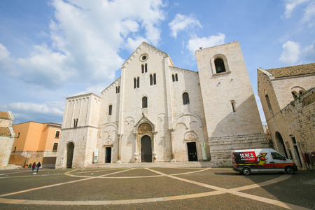 saint nicholas: BARI, ITALY - MARCH 16, 2015: Basilica of Saint Nicholas, a church dedicated to Saint Nicholas of Smyrna, a famous pilgrimage site in Bari, Puglia, Southern Italy