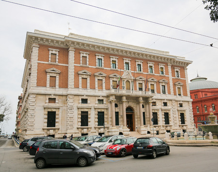 bari: BARI, ITALY - MARCH 16, 2015: Building of the National Bank Banca d Italia in the center of Bari, Italy