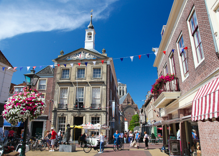 BRIELLE, THE NETHERLANDS - AUGUST 8, 2015: Old Town Hall (now historical museum) of Brielle, also known as Den Briel, the Netherlands.