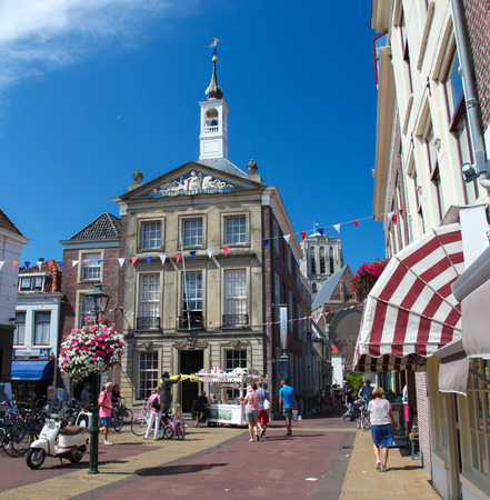 old town hall: BRIELLE, THE NETHERLANDS - AUGUST 8, 2015: Old Town Hall (now historical museum) of Brielle, also known as Den Briel, the Netherlands.