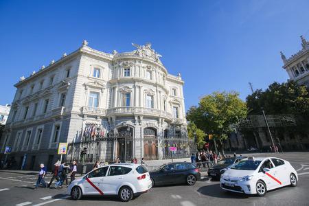 cibeles: MADRID, SPAIN - NOVEMBER 14, 2015: The Palace of Linares (Spanish: Palacio de Linares) is a palace located at the Plaza de Cibeles in Madrid, Spain
