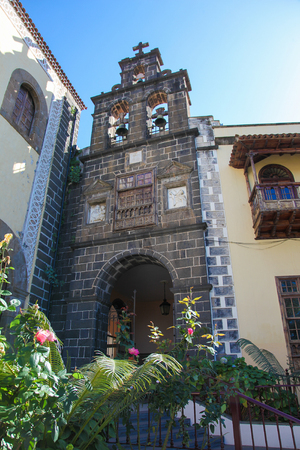 san agustin: San Agustin church in La Orotava, a town in the northern part of Tenerife, one of the Canary Islands of Spain Stock Photo