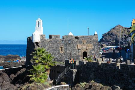 unspoilt: GARACHICO, SPAIN - JANUARY 20, 2016: Ermita de San Roque in Garachico, Tenerife, Canary Islands, Spain