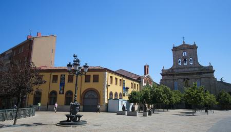 PALENCIA, SPAIN - JULY 10, 2016: Convento de San Pablo (14th century) in Palencia, a city in Castile and Leon, northwest Spain