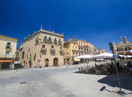 CIUDAD RODRIGO, SPAIN - JULY 10, 2016: Casa del Primer Marques de Cerralbo (16th century) in Ciudad Rodrigo, Spain