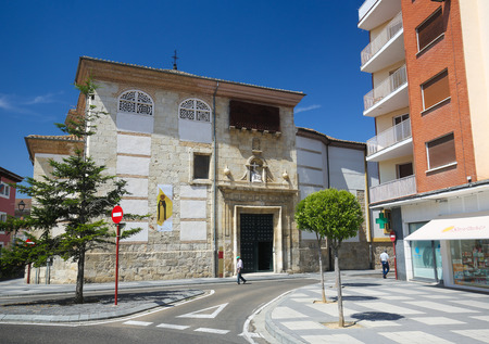 northwest: PALENCIA, SPAIN - JULY 10, 2016: Church in Palencia, a city in Castile and Leon, northwest Spain