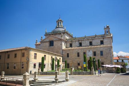 CIUDAD RODRIGO, SPAIN - JULY 10, 2016: Facade of Capilla de Cerralbo, built between the 16th and 17th centuries, in Ciudad Rodrigo, a border town in Castile and Leon, Spain.