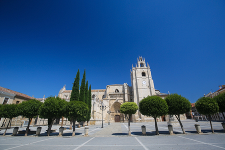 castille: Palencia Cathedral (Catedral de san Antolin), popularly known as the unknown beauty, in Palencia, a city in Castile and Leon, northwest Spain