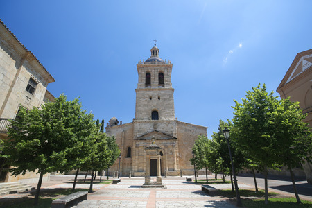 Cathedral of Santa Maria, built between the 12th and 14th centuries, in Ciudad Rodrigo, a border town in Castile and Leon, Spain.