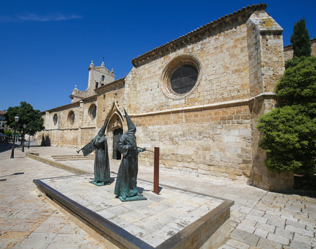 palencia province: Statue of Capuchin monks by the Convent of San Pablo in Palencia, Castile and Leon, northwest Spain Editorial