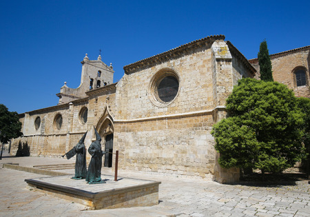 castille: Statue of Capuchin monks by the Convent of San Pablo in Palencia, Castile and Leon, northwest Spain Editorial