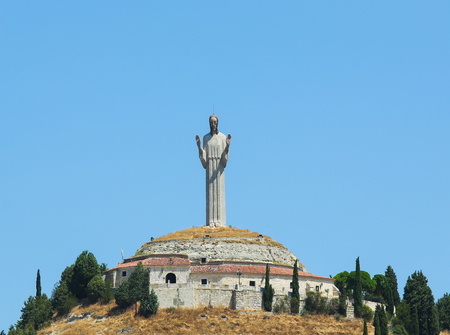 knoll: The Cristo del Otero (Christ of the Knoll) is a large sculpture and symbol of the city of Palencia in Spain, located on a knoll (otero) on the outskirts of the city.