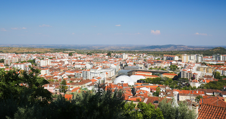 templars: View from the Templars Castle on Castelo Branco, a city in the Centro region of Portugal.