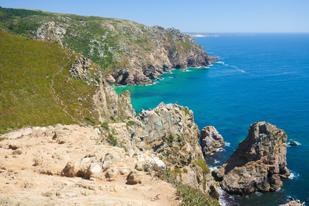 roca: Cabo da Roca is a cape located close to Lisbon which forms the westernmost extent of mainland Portugal and continental Europe.