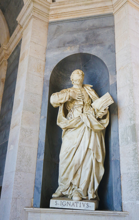 theologian: Statue of Saint Ignatius of Loyola, founder of the Society of Jesus, at the Palace of Mafra in Portugal.