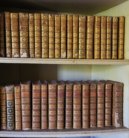 law of portugal: MAFRA, PORTUGAL - JULY 17, 2016: Old books in the library of Mafra Palace, Portugal