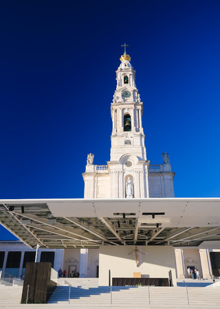 FATIMA, PORTUGAL - JULY 23, 2016: Basilica of Our Lady of the Rosary at the Sanctuary of Fatima in Portugal.