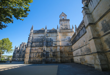 castile: Lateral view of the Monastery of Batalha, one of the most important Gothic sites in Portugal, created in remembrance of the 14th Century victory against Castile.