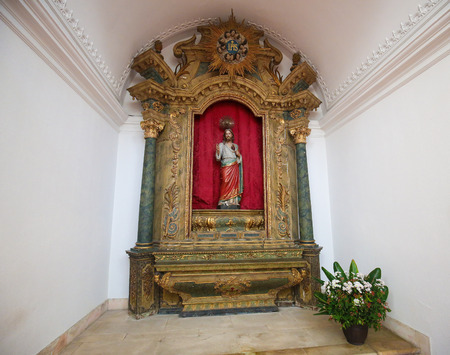 AVEIRO, PORTUGAL - JULY 28, 2016: Sacred Heart of Jesus, statue in the Cathedral of Aveiro, Centro region, Portugal.